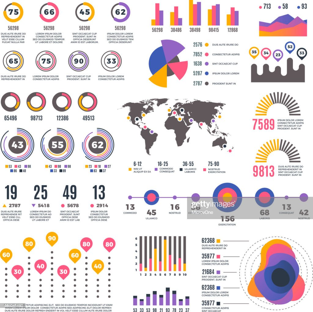 Business strategy modern presentation infographic vector elemens. Bar graph and rate charts