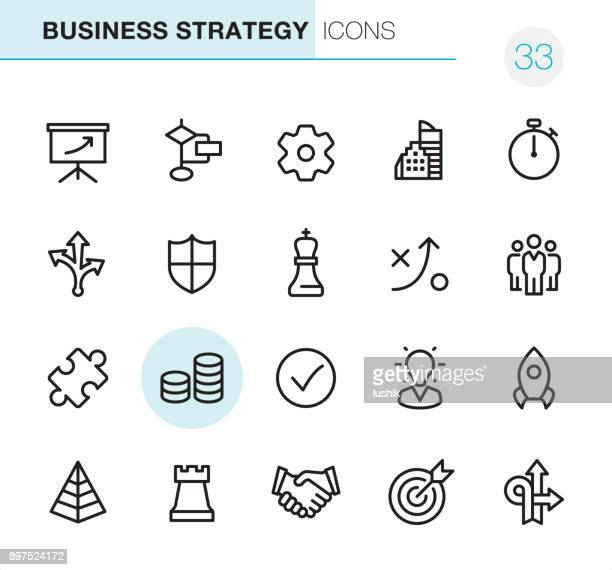 business strategy - pixel perfect icons - money manager stock illustrations, clip art, cartoons, & icons