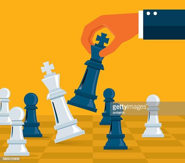 ビジネス戦略 - チェス点のイラスト素材/クリップアート素材/マンガ素材/アイコン素材