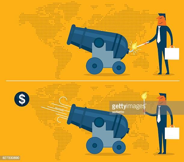 ilustraciones, imágenes clip art, dibujos animados e iconos de stock de estrategia de negocio  - bomba