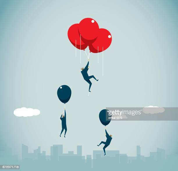 business strategy - hot air balloon stock illustrations, clip art, cartoons, & icons