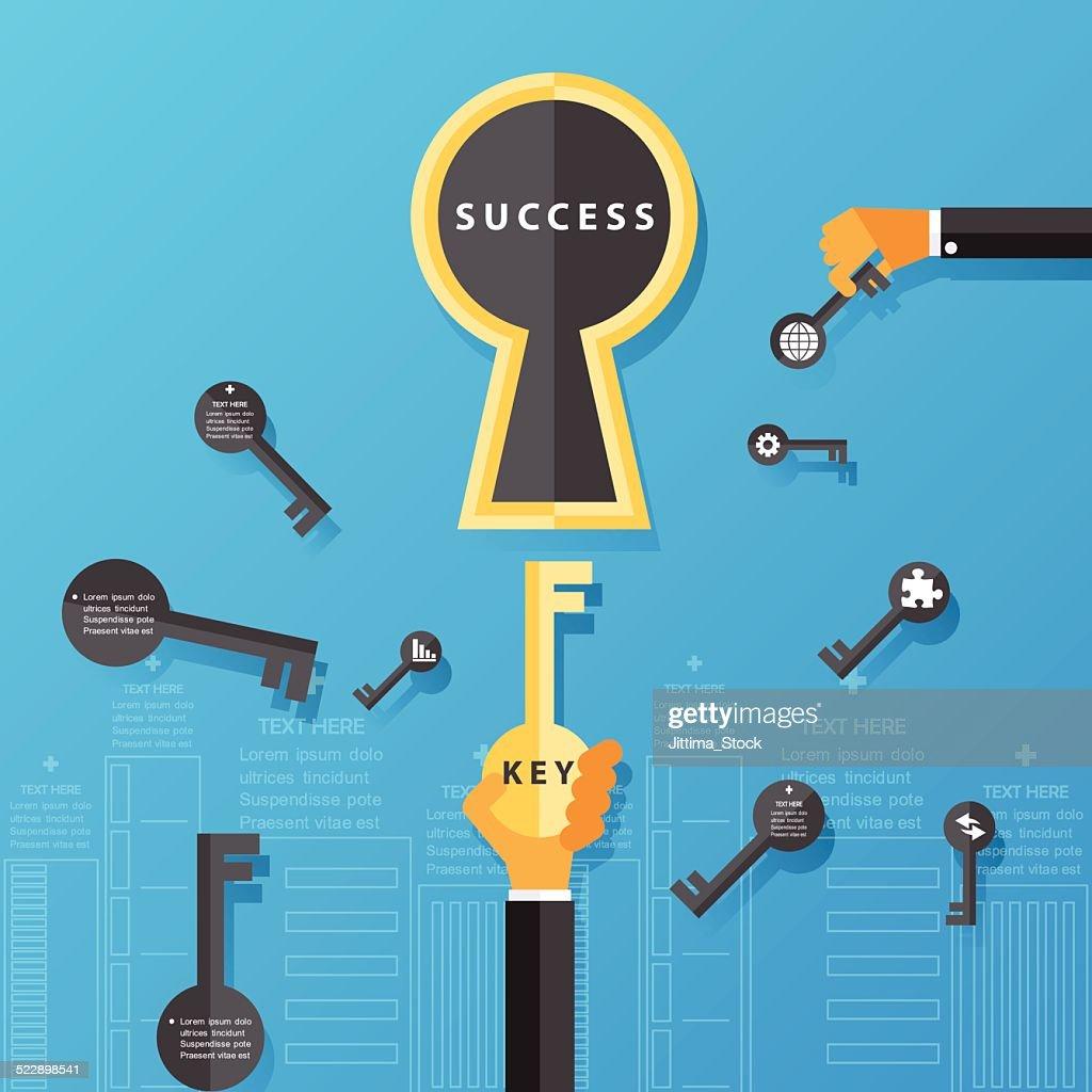 business success concept.Vector Design.