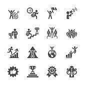 business success icon set, vector eps10
