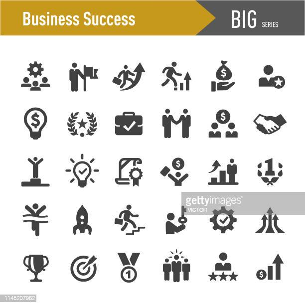 business success icons-big series - unternehmer stock-grafiken, -clipart, -cartoons und -symbole