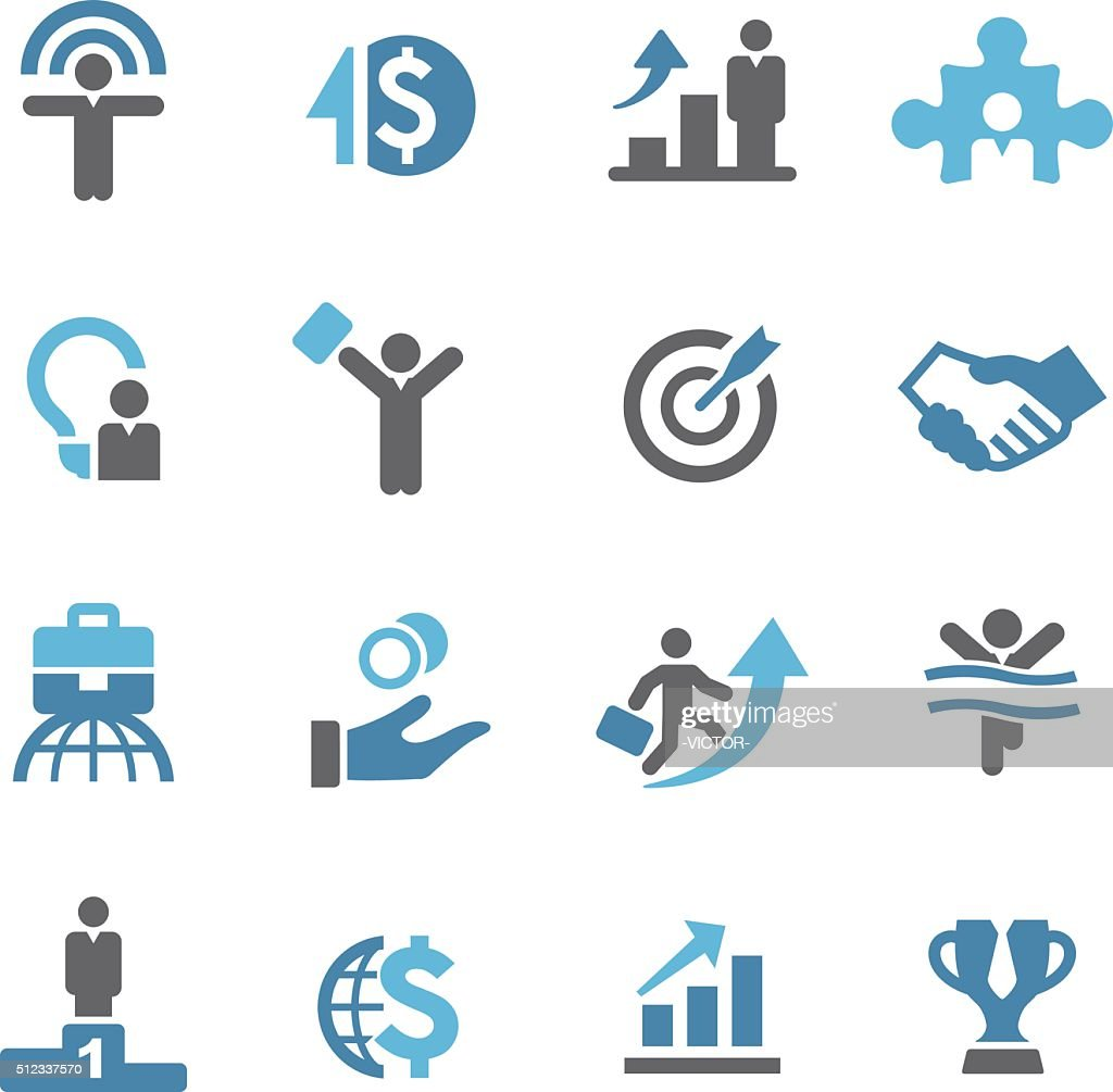 Business Success Icons - Conc Series