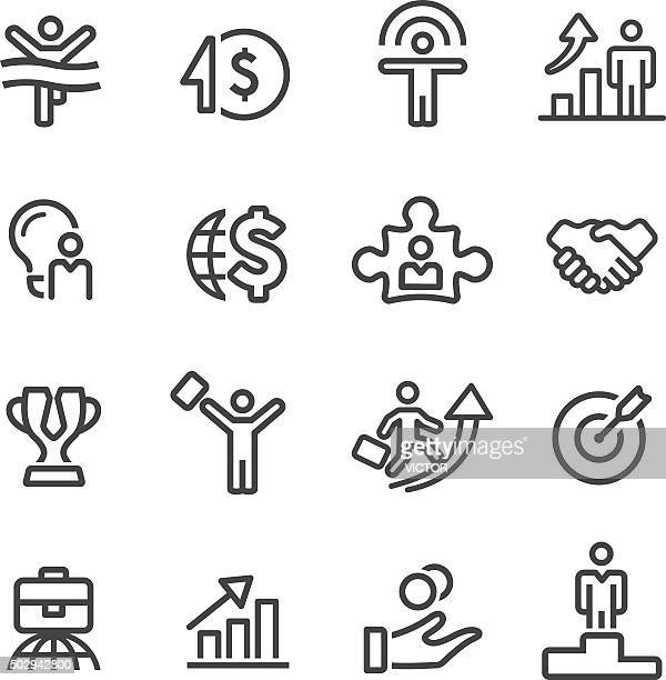 Business-Erfolg-Icons-Line Serie