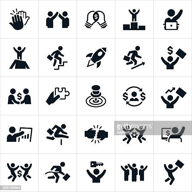 business success icons - motivation stock illustrations, clip art, cartoons, & icons