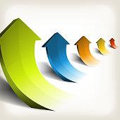 Business Success Rising Arrows
