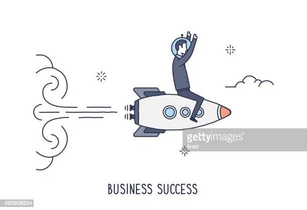business erfolg wird - leistung stock-grafiken, -clipart, -cartoons und -symbole