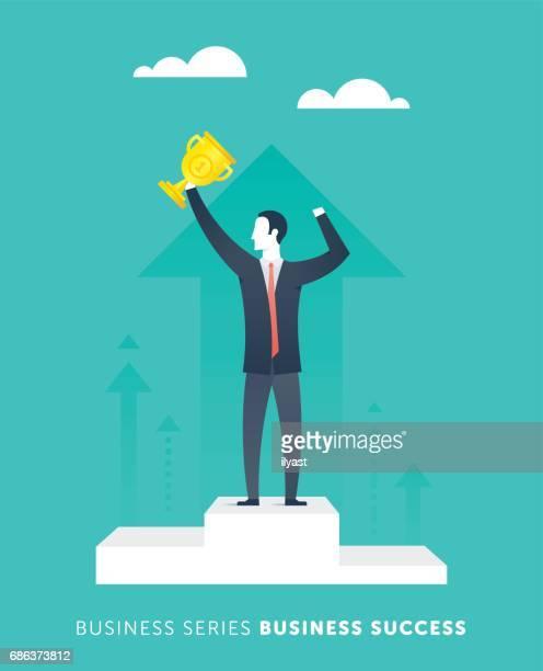 business success - winners podium stock illustrations