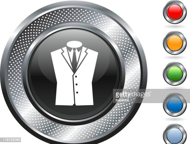 business suit royalty free vector art on metallic button