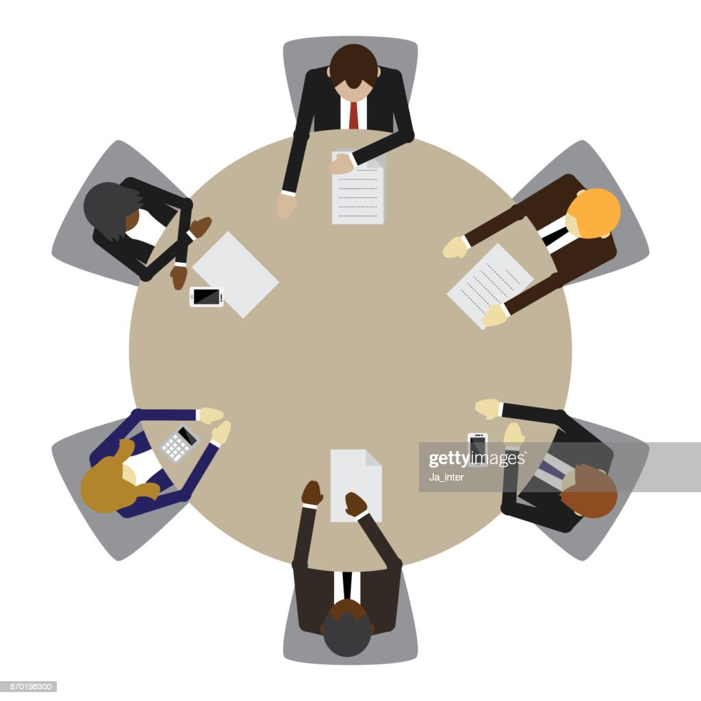 Business table meeting : stock illustration