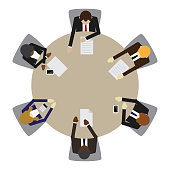 Business table meeting