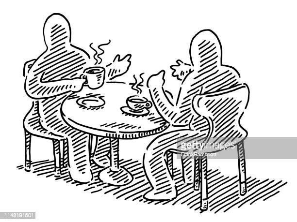 Business Talk Coffee Table Drawing