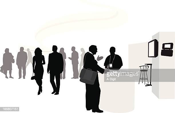 Business Talk Vector Silhouette