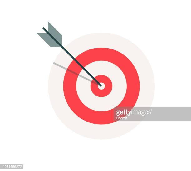 business target vector - sports target stock illustrations