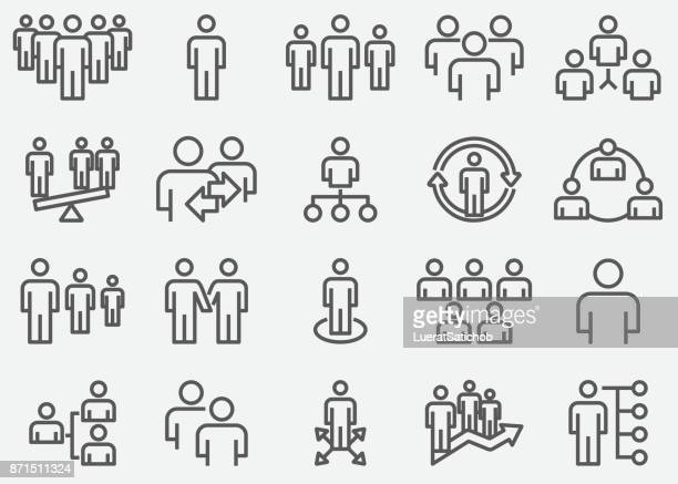 business team and organize line icons - citizenship stock illustrations