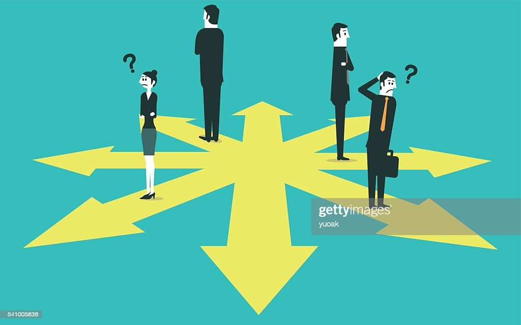 Business team confused about which direction to take