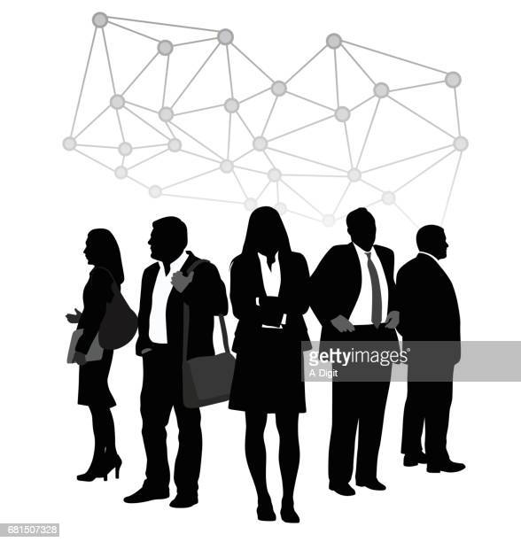 business team connecting the dots - clip art stock illustrations, clip art, cartoons, & icons