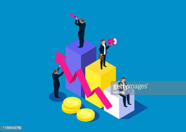business team development - interest rate stock illustrations