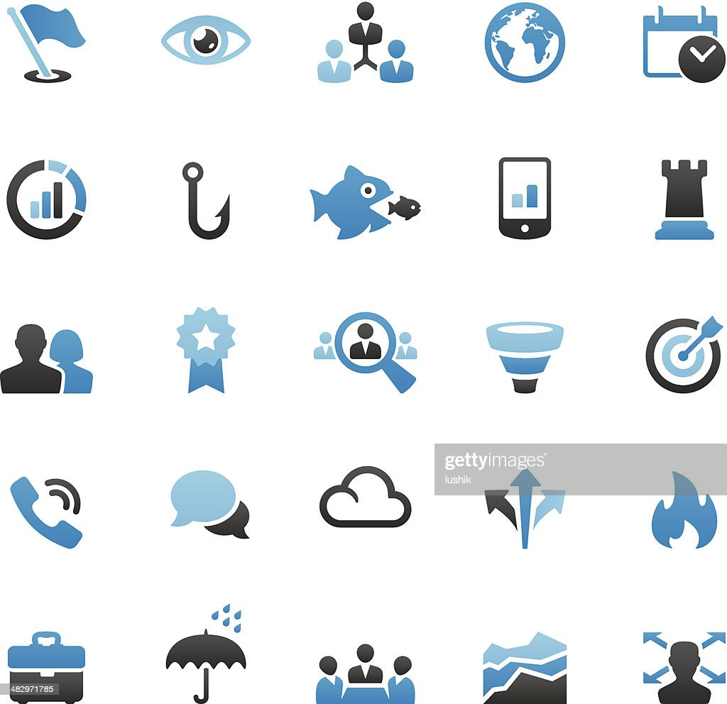 Business Team icons set