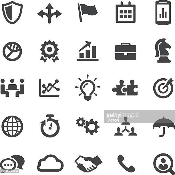 business team icons - smart series - sales occupation stock illustrations