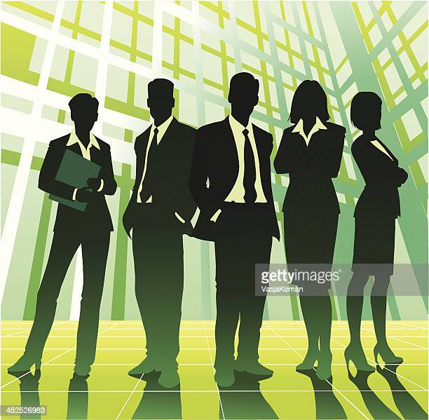 Business Team in Green