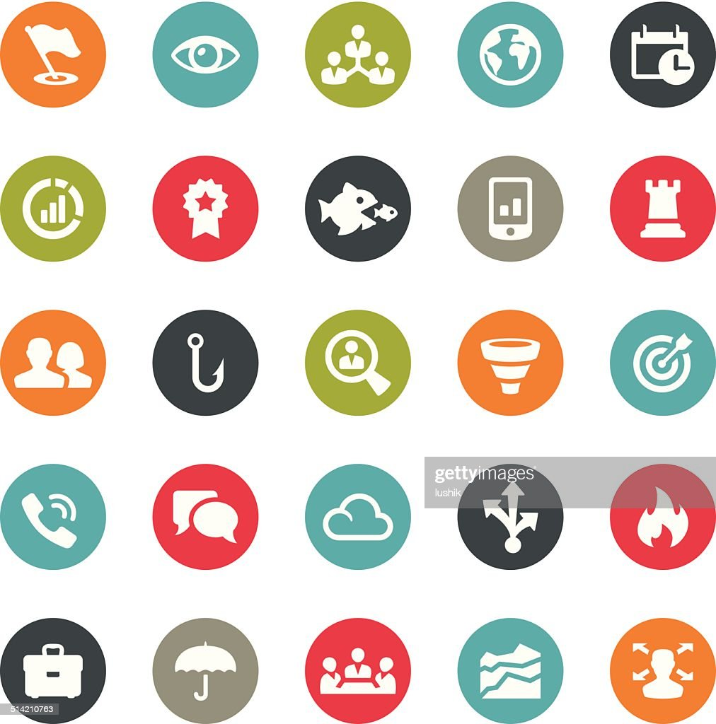 Business Team related icons / Ringico series
