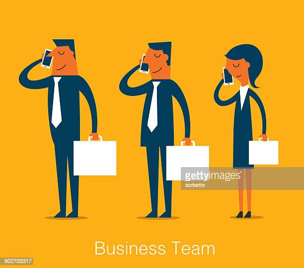 business team - businesswear stock illustrations