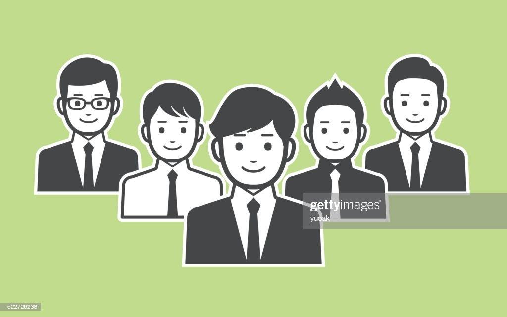 ビジネスチーム : ストックイラストレーション