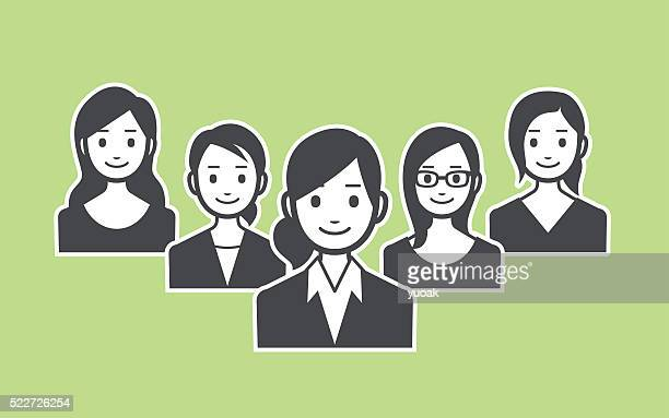 business team - new hire stock illustrations