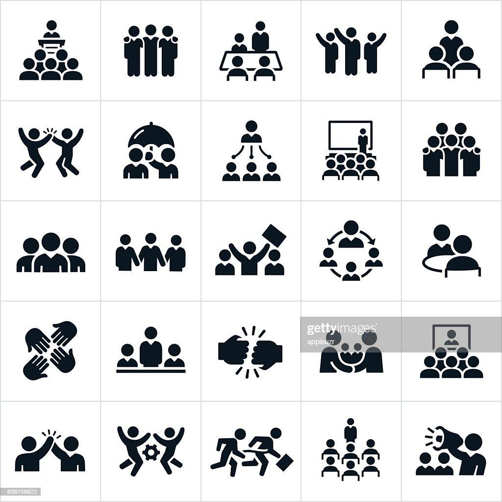Business Teams Icons : Ilustração