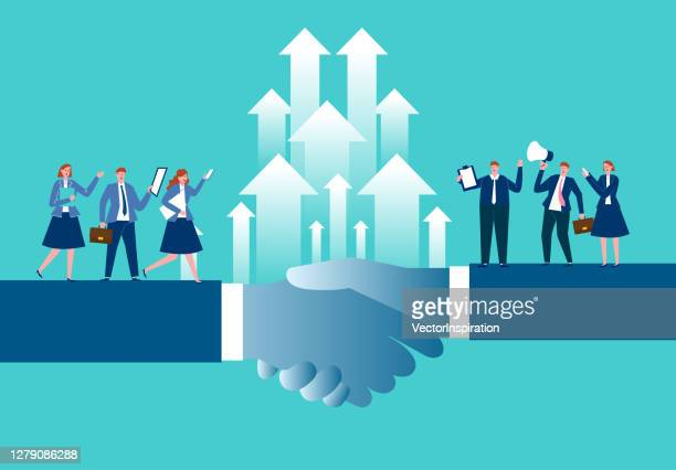 business teamwork, business concept illustration - new hire stock illustrations
