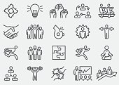 Business Teamwork Line Icons | EPS 10