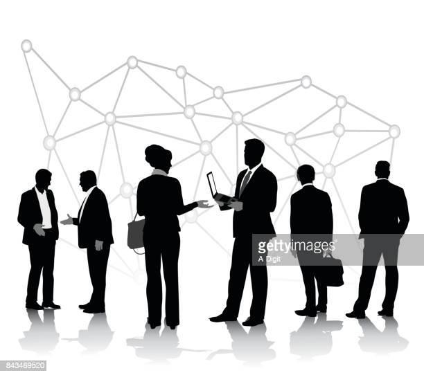 business technology conversations - job interview stock illustrations, clip art, cartoons, & icons