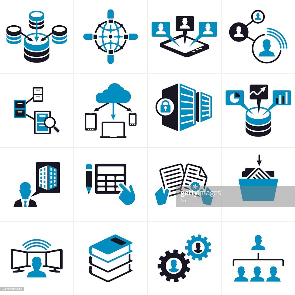 technology symbols icons business vector