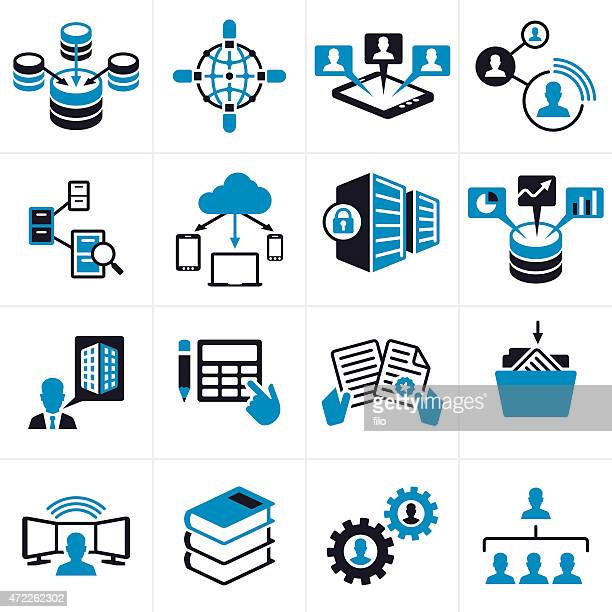 Business Technology Icons and Symbols