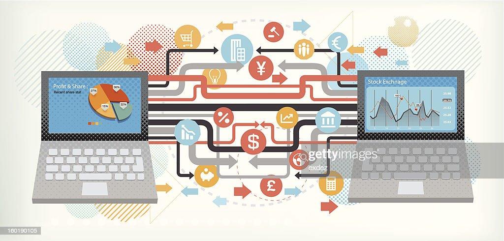 ビジネステクノロジー : ベクトルアート