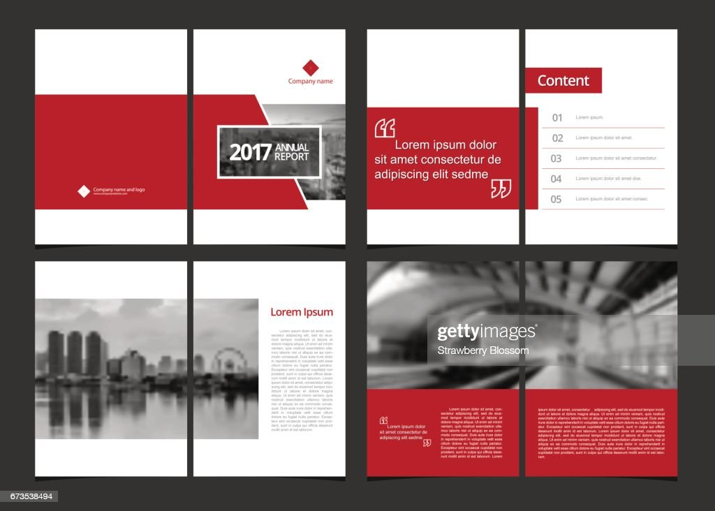 Business template cover design for annual report, catalog, magazine, flyer, booklet or brochure. Template layout design cover, content page and inner page. A4 cover vector EPS-10 sample image with Gradient Mesh.