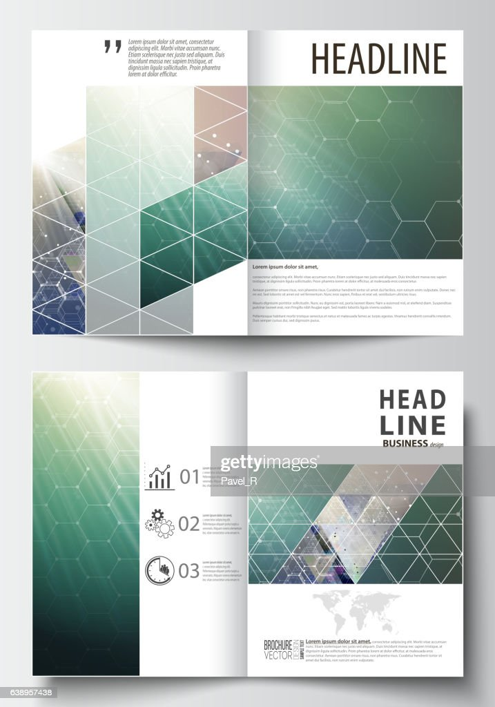Business templates for bi fold brochure, magazine, flyer, booklet. Cover