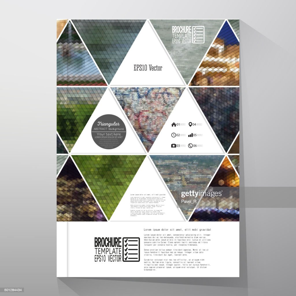Business templates for brochure, flyer or booklet. Abstract multicolored background