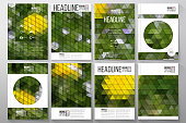 Business templates for brochure, flyer or booklet. Yellow flowers on