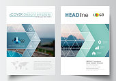 Business templates for brochure, magazine, flyer, booklet. Cover design, abstract