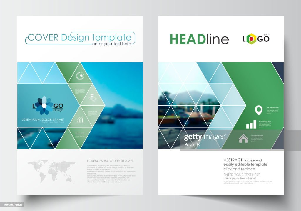 Business Templates For Brochure Magazine Flyer Booklet Cover Design