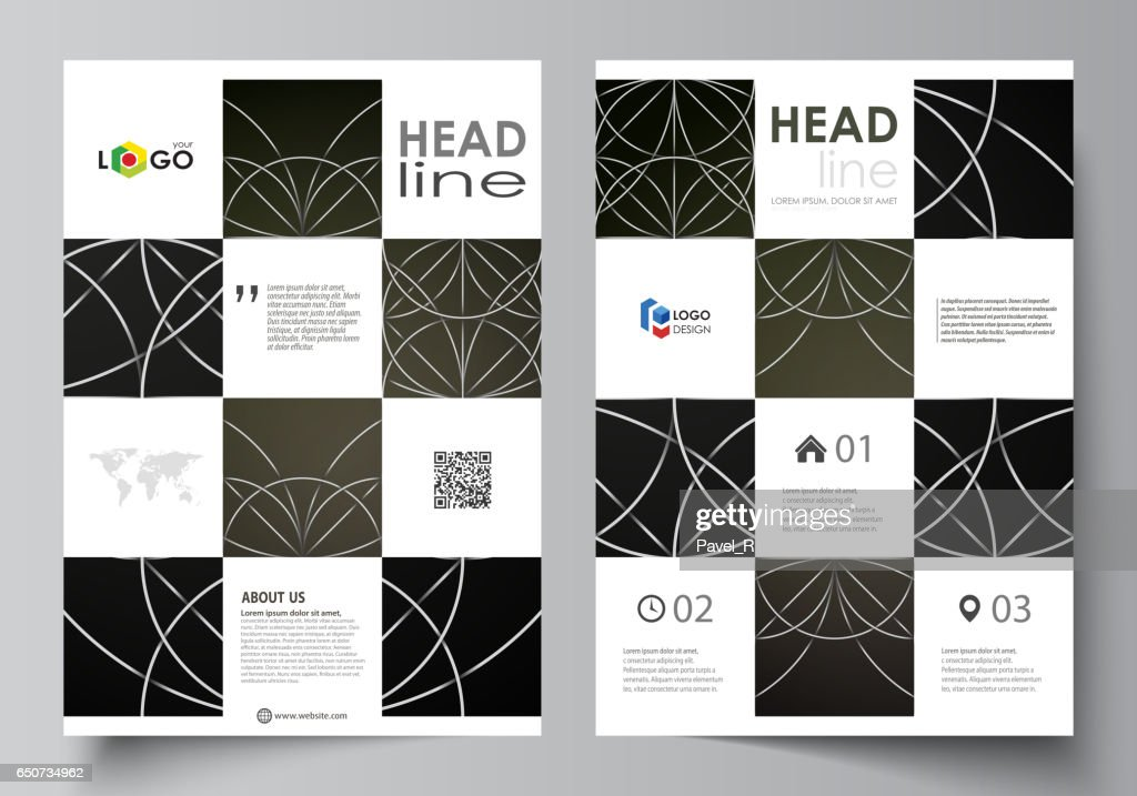 Business templates for brochure magazine flyer booklet report cover cover design template vector layout in a4 size celtic pattern abstract ornament geometric vintage texture medieval ethnic style maxwellsz