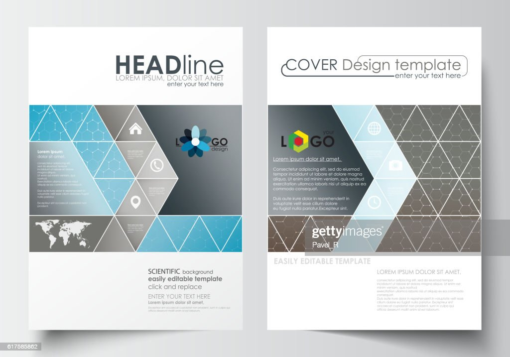 Business templates for brochure, magazine, flyer. Cover template, flat layout