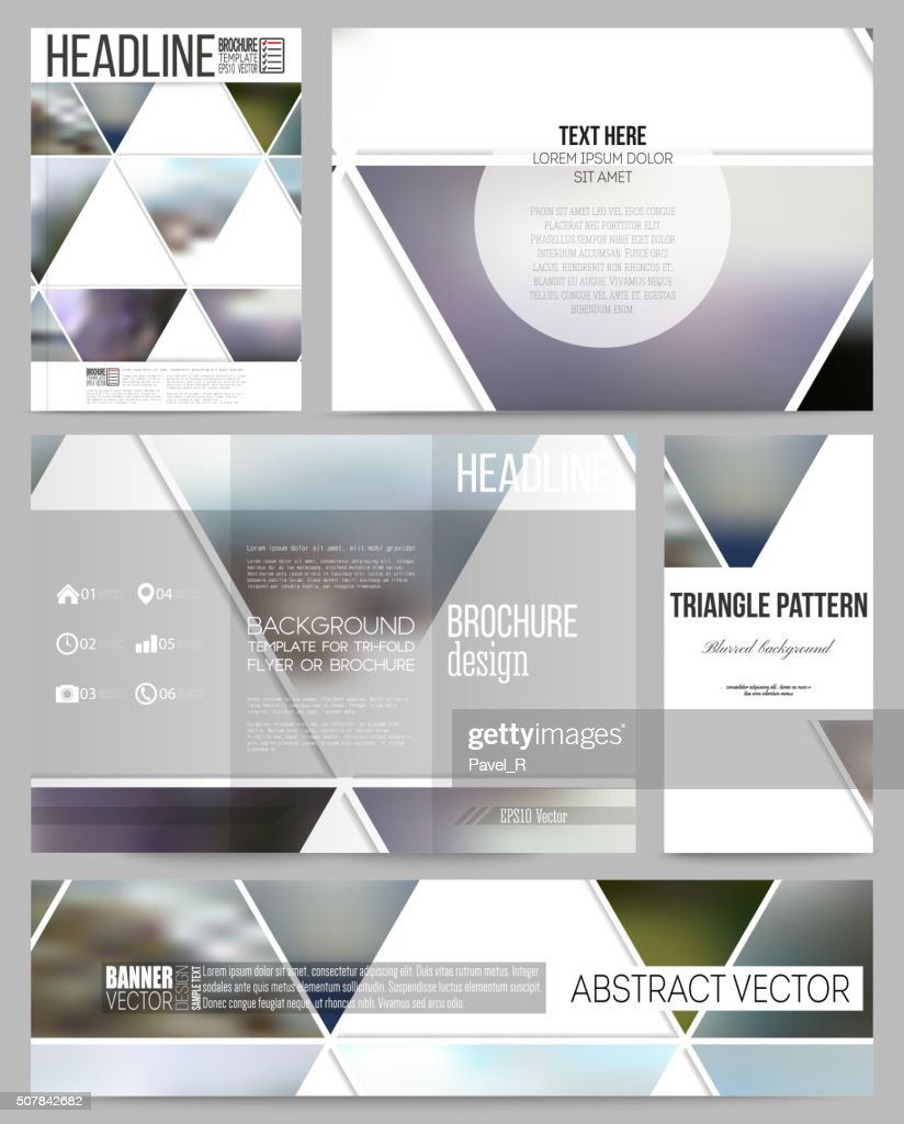 Business templates for presentation, brochure, flyer or booklet. Abstract multicolored