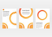 Business templates for presentation slides, cover, flyer, a4 size. circle gradient style