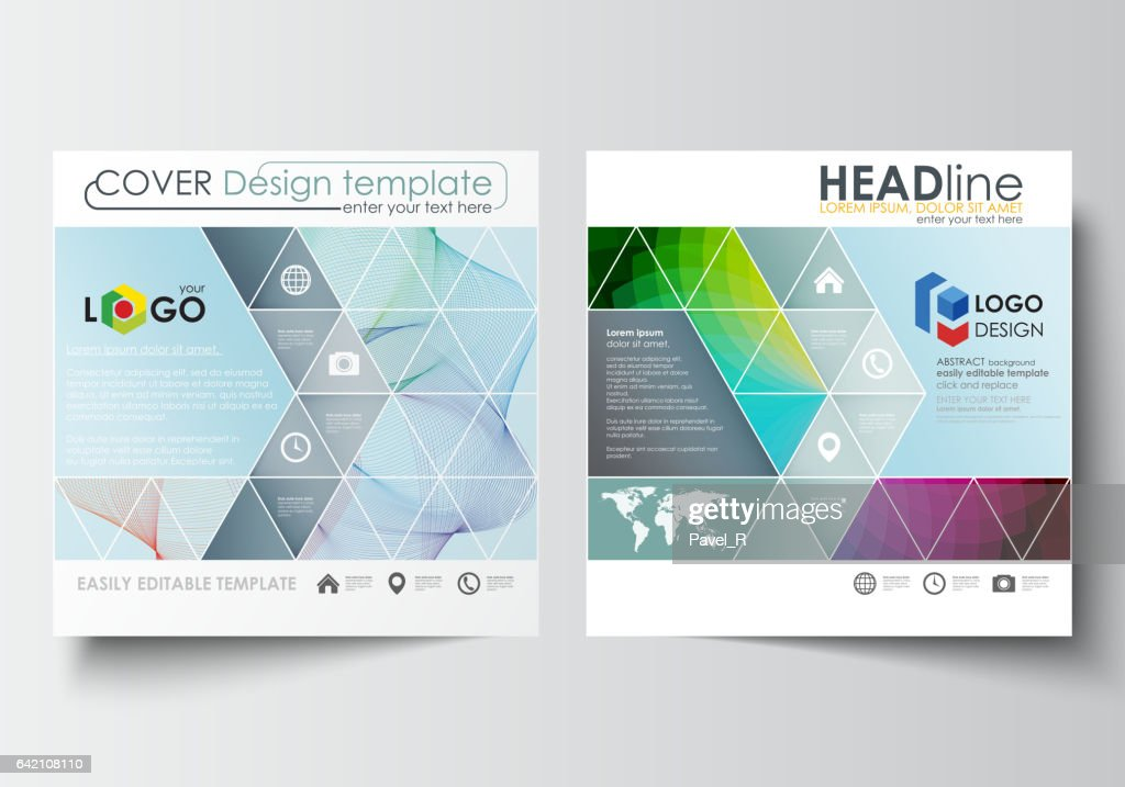 business templates for square brochure magazine flyer annual report