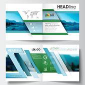 Business templates for square design brochure, magazine, flyer, booklet. Leaflet